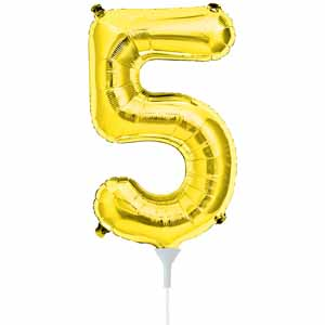 "Number 5 Gold 16"" Foil Balloon"