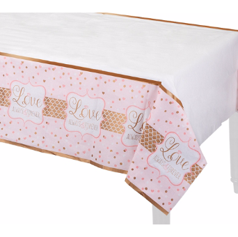 50% OFF: Sparkle Pink/Gold Always Tablecover