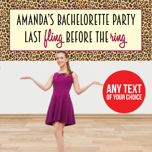 Bachelorette PERSONALIZED Giant Fling Banner