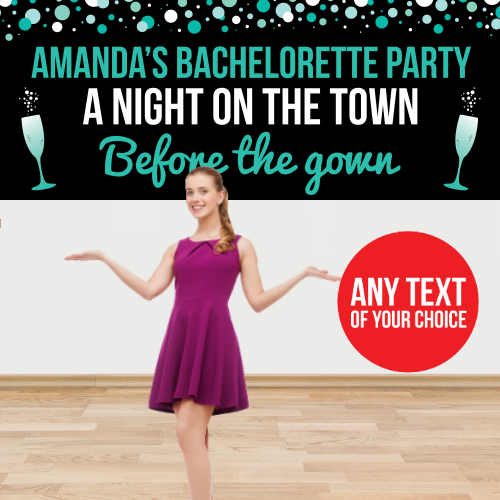 Bachelorette PERSONALIZED Giant Town Banner