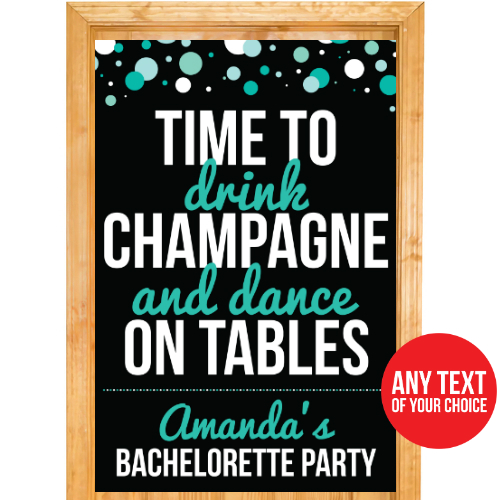 Bachelorette PERSONALIZED Giant Town Door Sign