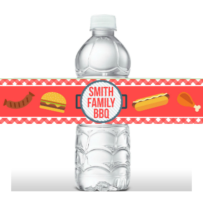 Barbeque PERSONALIZED Bottle Labels - 5 Pk