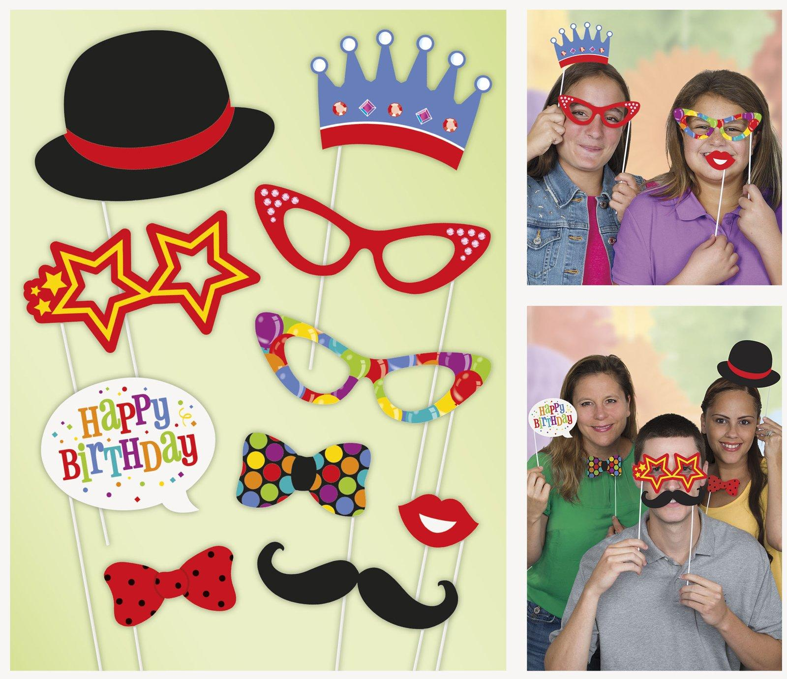 Birthday Photo Props - 10 Pk