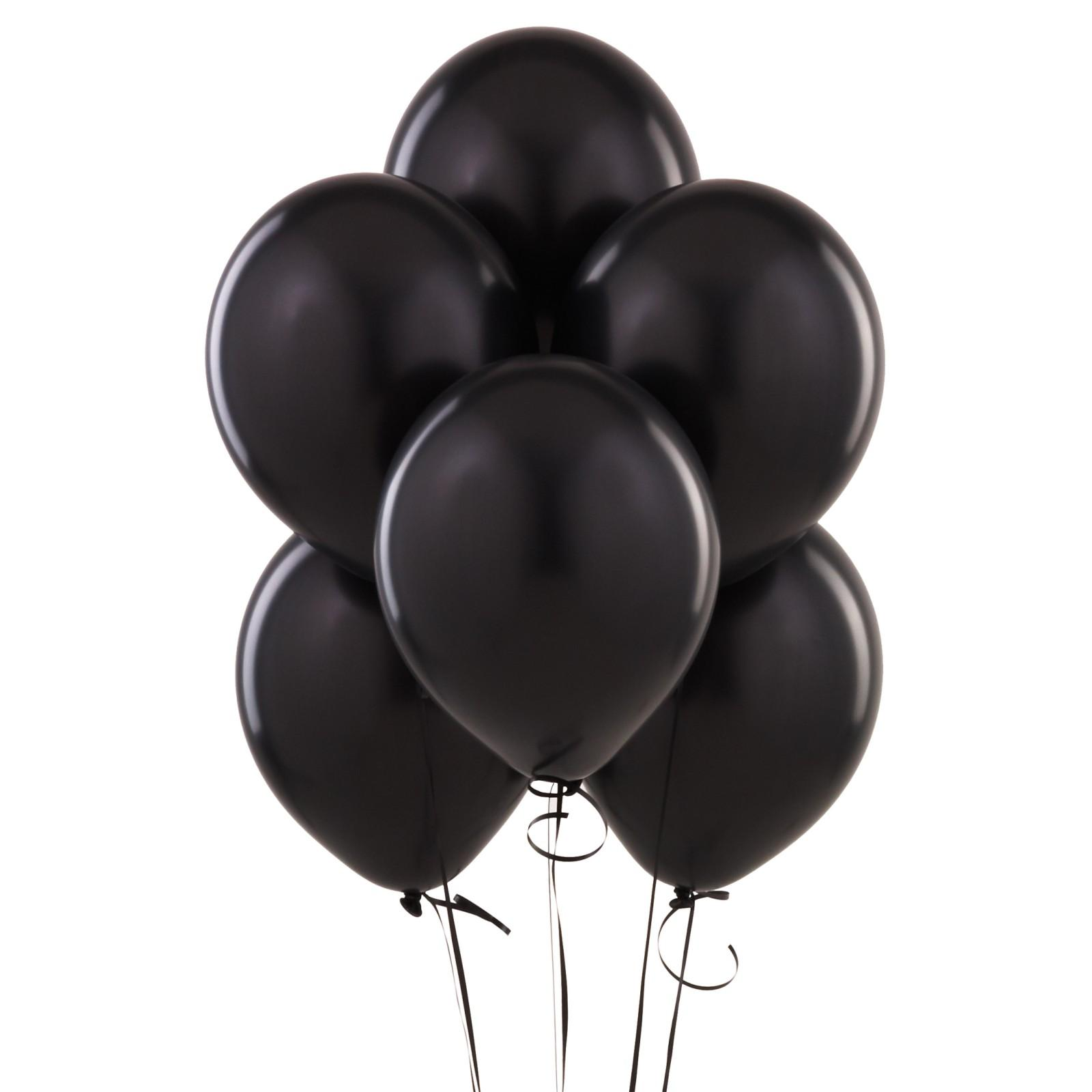 Black Latex Balloons - 10 Pk