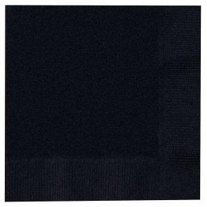 Black Beverage Napkins - 50 Pk