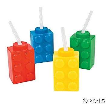 Lego 16 oz. Deluxe Molded Keepsake Cups - 4 Pack