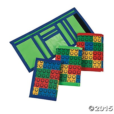 Lego Tri-Fold Velcro Wallets - 3 Pack