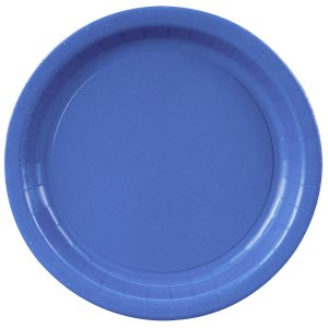 Royal Blue Round Dinner Plates Big 16 Pack