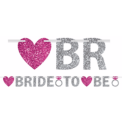 50% OFF: Bride To Be Glitter Banner 12ft