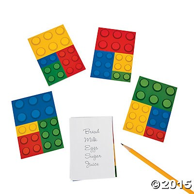 Lego 30 Page Notepads - 4 Pack