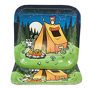 Camping: Big Square Dinner Plates 8 Pk