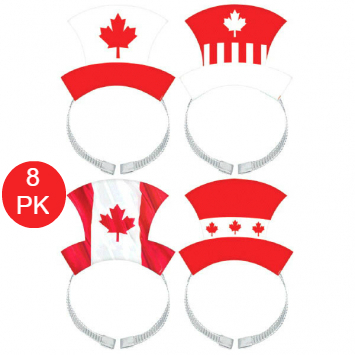 60% OFF: Canada Day Headbands - 8 Pack