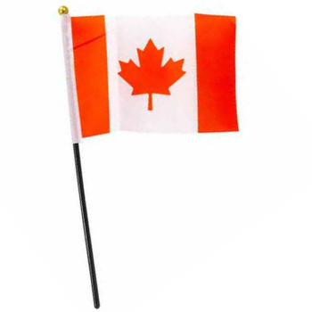 "70% OFF: Canada Day Fabric Flag on 10.5"" Stick"
