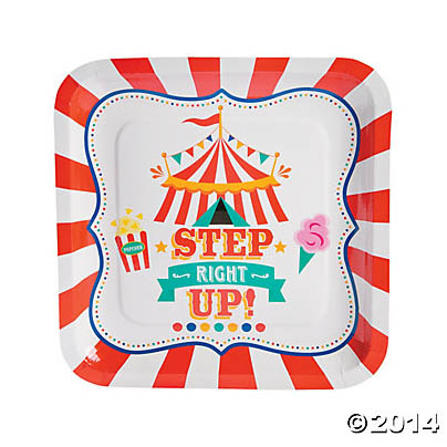 Carnival Step Right Up Dinner Plates 8 Pk
