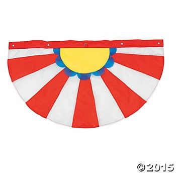 "Carnival 38"" Bunting w/Grommets"