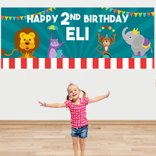 Carnival Jumbo PERSONALIZED Kids Banner
