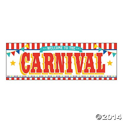 Welcome to the Carnival 6 Ft Banner