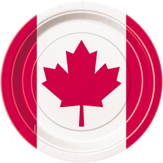 50% Off: Canada Day Dessert Plates - 8 Pk
