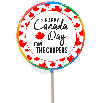 Canada Day PERSONALIZED Large Lollipops - 12 Pk