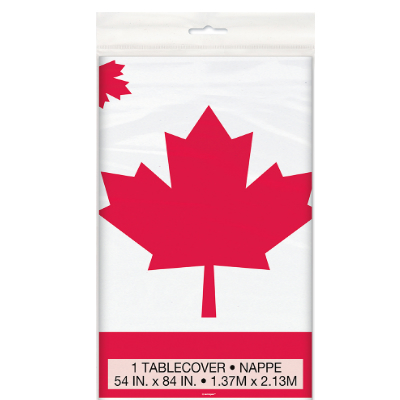50% Off: Canada Day Printed Plastic Tablecover