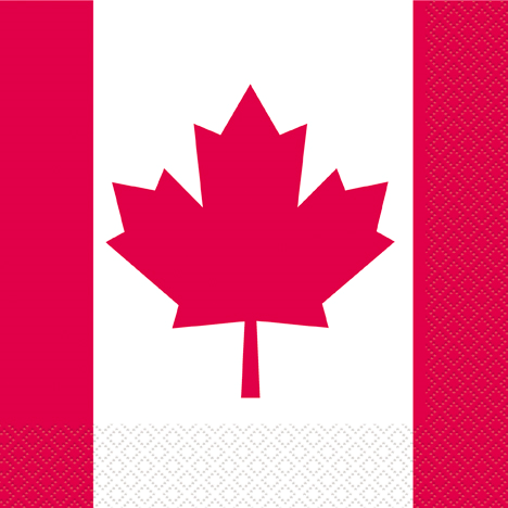 50% Off: Canada Day Lunch Napkins - 16 Pk