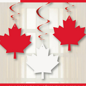 70% Off: Canada Day Hanging Swirls - 3 Pk