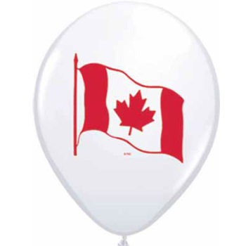 Canadian Flag Large Latex Balloon - 50 Pk
