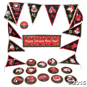 Chinese New Year Giant Decorating Kit - 20 Pc