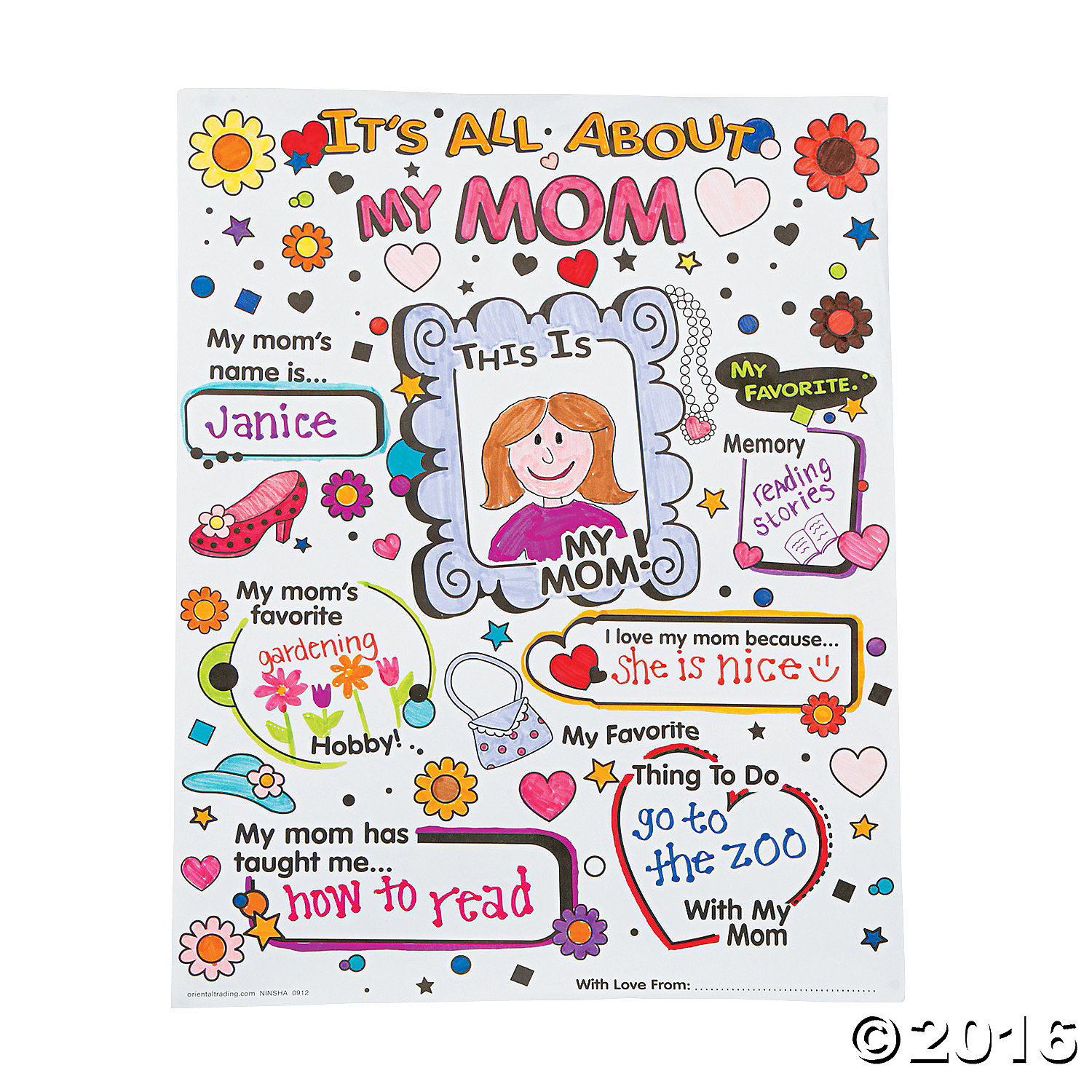 Cyo it 39 s all about my mom posters 30 pk party supplies for Craft stores in canada