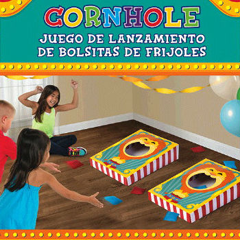 50% OFF: Carnival Cornhole Game with 8 Bean Bags