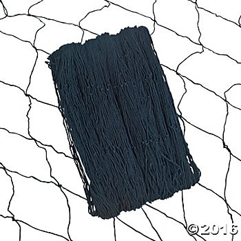 Cotton Black Fish Nets - 3 Pk