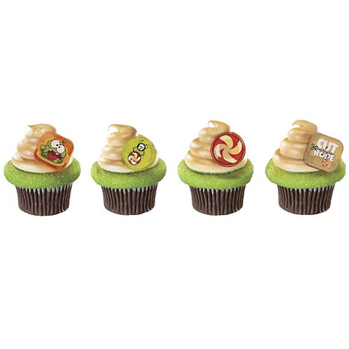 Cupcake Rings 8 Pk Cut The Rope Cupcake Rings 8pk Party