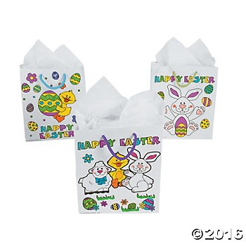 Color your own easter gift bags 12 pk party supplies canada color your own easter gift bags 12 pk party supplies canada open a party negle Image collections