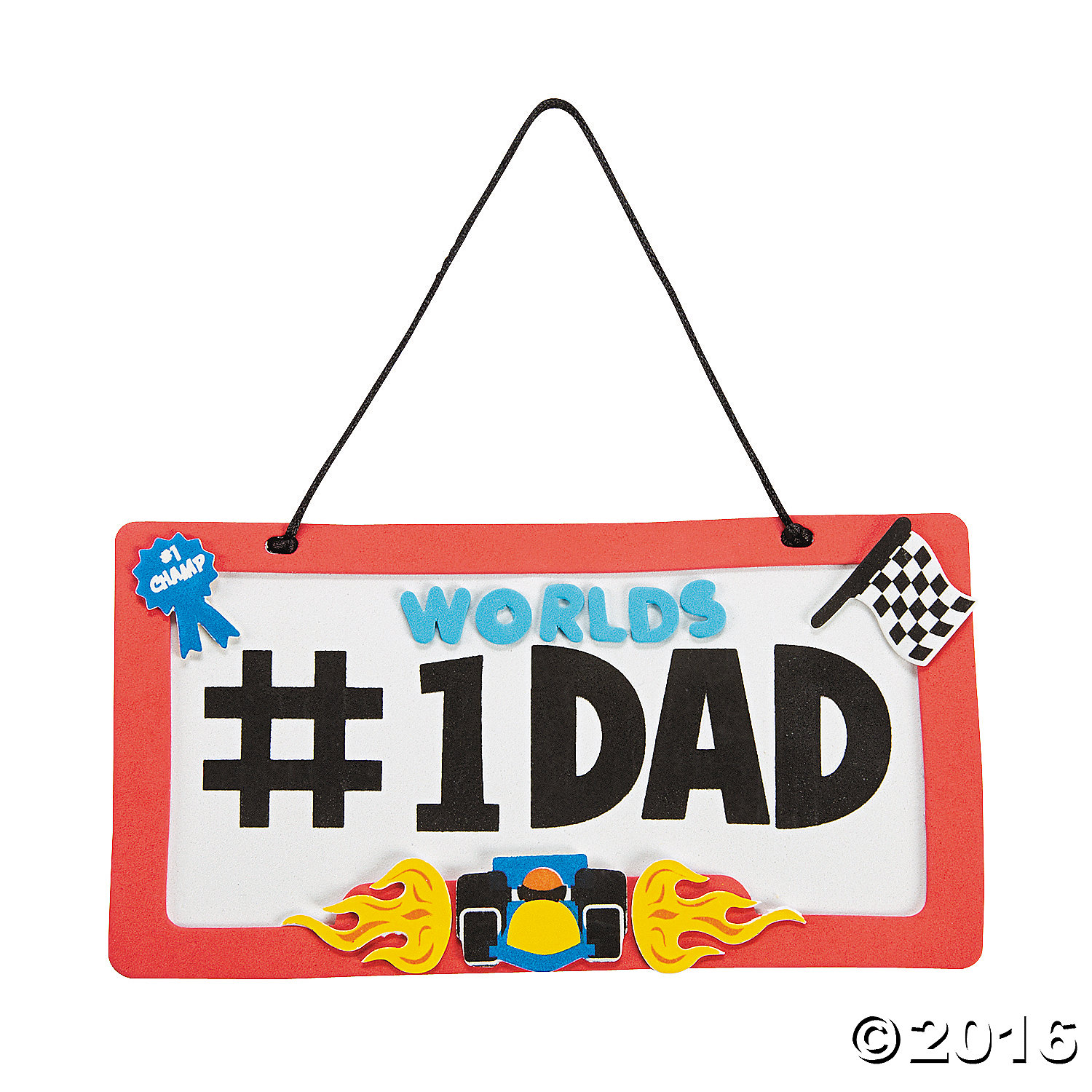 Dad License Plate Sign Craft Kit - 12 Pk