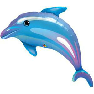 Delightful Dolphin Supershape Foil Balloon