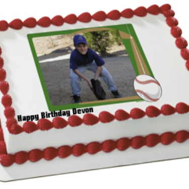 Baseball PERSONALIZED PHOTO Edible Icing Sheet