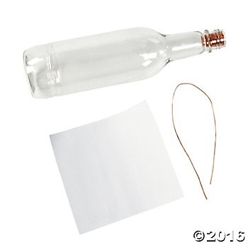 Plastic DIY Message Bottles - 12 Pk