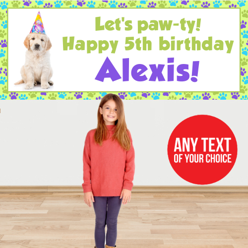 Dog Party PERSONALIZED Giant Banner