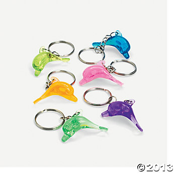 Dolphin Key Chains 6 Pack