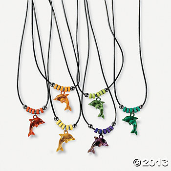 Dolphin Necklaces 12pk