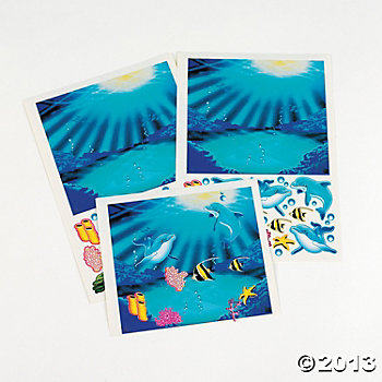 Dolphin Party: Dolphin Sticker Scenes 12 pk