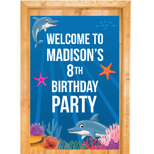 Dolphin Giant PERSONALIZABLE Door Sign