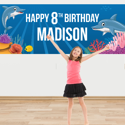 Dolphin Giant PERSONALIZED Banner