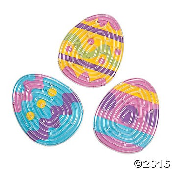 Dyed Easter Egg Maze Puzzles - 24 Pack