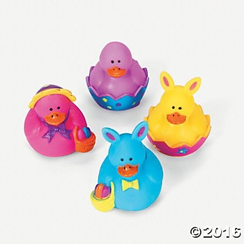Mini Easter Rubber Duckies - 24 Pack