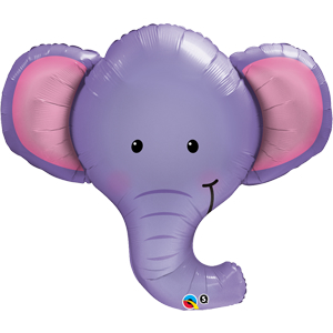 "39"" Elephant Head Foil Balloon"