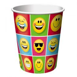 50% OFF: Emoji Party Cups - 8 Pk