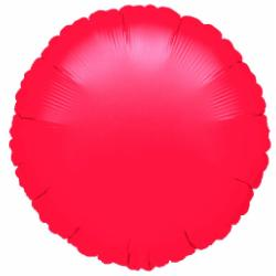 Metallic Red Round Foil 18""