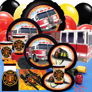 *Fire Department Deluxe Party Pack for 16