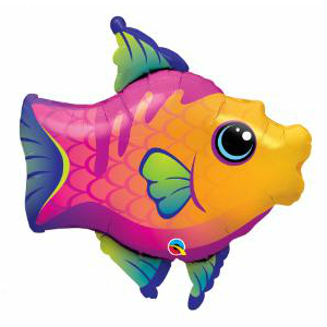 Fanciful Fish Supershape Foil Balloon